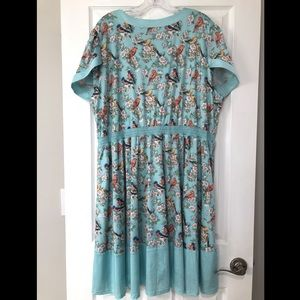 Lindy Bop Dresses - Lindy Bop Ariadne Blue Bird Blossom Dress
